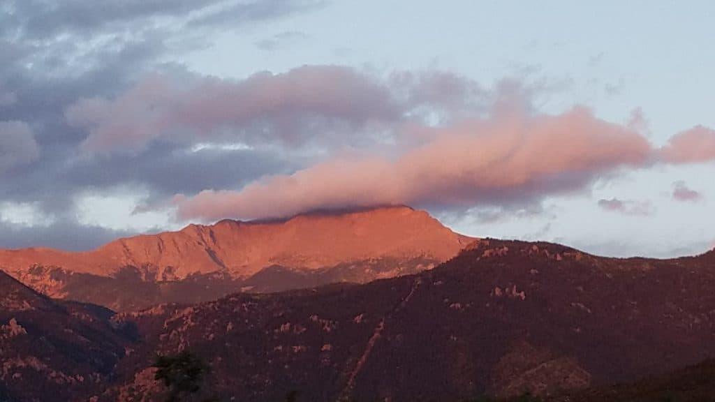 Pikes Peak Fall Sunrise